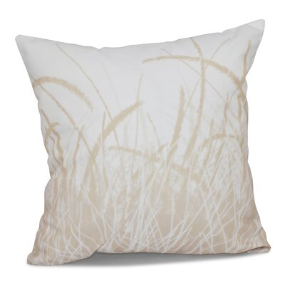Surrey Sea Grass Floral Print Outdoor Throw Pillow Size: 18 H x 18 W, Color: Taupe