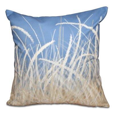 Boubacar Sea Grass Outdoor Throw Pillow Color: Blue, Size: 18