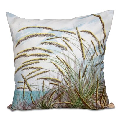 Boubacar Ocean Breeze Floral Print Outdoor Throw Pillow Size: 20 H x 20 W