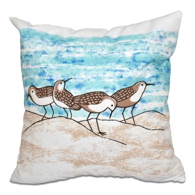 Cedarville Sandpipers Outdoor Throw Pillow Size: 20 H x 20 W, Color: Taupe