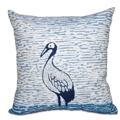 Boubacar Bird Square Outdoor Throw Pillow Color: Teal, Size: 20 H x 20 W