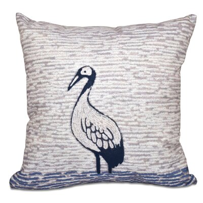 Boubacar Bird Square Outdoor Throw Pillow Size: 20 H x 20 W, Color: Purple