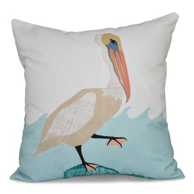 Boubacar Bird Outdoor Throw Pillow Size: 20 H x 20 W, Color: Taupe