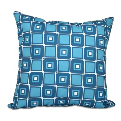 Cedarville Square Geometric Print Outdoor Throw Pillow Size: 20 H x 20 W, Color: Teal