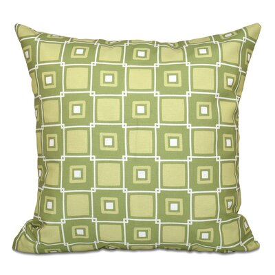 Cedarville Square Geometric Print Outdoor Throw Pillow Size: 20 H x 20 W, Color: Green