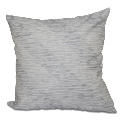 Boubacar Marled Knit Stripe Geometric Print Outdoor Throw Pillow Size: 20 H x 20 W, Color: Gray