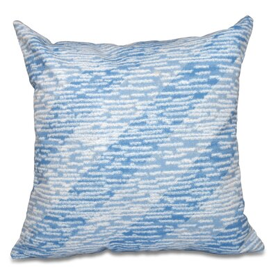 Boubacar Marled Knit Stripe Geometric Print Outdoor Throw Pillow Size: 18 H x 18 W, Color: Blue