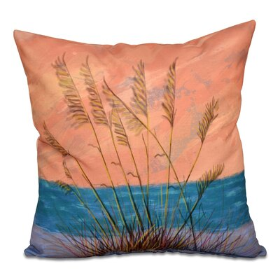 Cedarville Floral Print Outdoor Throw Pillow Size: 18 H x 18 W, Color: Coral