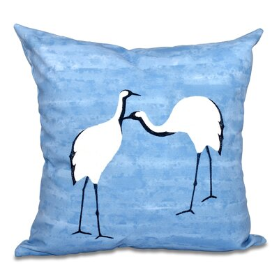 Boubacar Stilts Animal Print Outdoor Throw Pillow Color: Blue, Size: 20 H x 20 W