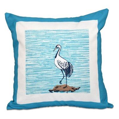 Surrey Sandbar Animal Print Outdoor Throw Pillow Size: 18 H x 18 W, Color: Turquoise