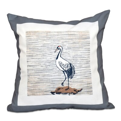Boubacar Sandbar Animal Print Outdoor Throw Pillow Size: 18 H x 18 W, Color: Gray