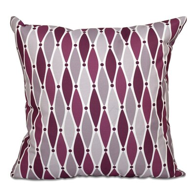 Boubacar Wavy Outdoor Throw Pillow Size: 18 H x 18 W, Color: Purple