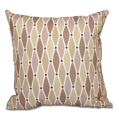 Boubacar Wavy Outdoor Throw Pillow Size: 18 H x 18 W, Color: Taupe