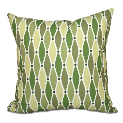 Boubacar Wavy Outdoor Throw Pillow Size: 18 H x 18 W, Color: Green