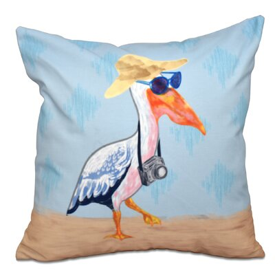 Boubacar Animal Print Outdoor Throw Pillow Size: 20 H x 20 W, Color: Blue