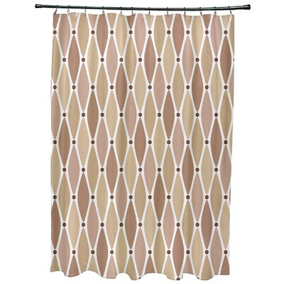 Rocio Wavy Geometric Print Shower Curtain Color: Taupe