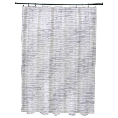 Cedarville Marled Knit Stripe Geometric Print Shower Curtain Color: Gray