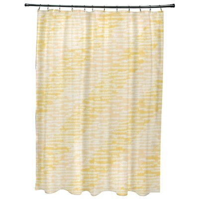 Rocio Marled Knit Stripe Geometric Print Shower Curtain Color: Yellow