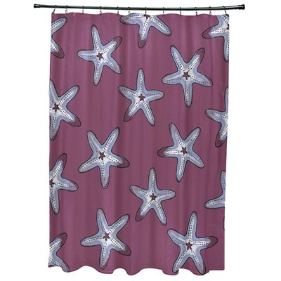 Oakley Soft Starfish Geometric Print Shower Curtain Color: Purple/Blue