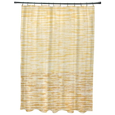 Oakley Ocean View Geometric Print Shower Curtain Color: Yellow