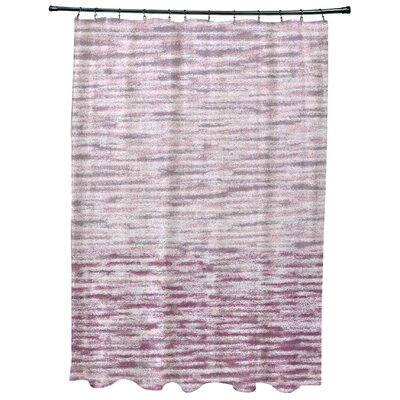 Oakley Ocean View Geometric Print Shower Curtain Color: Purple