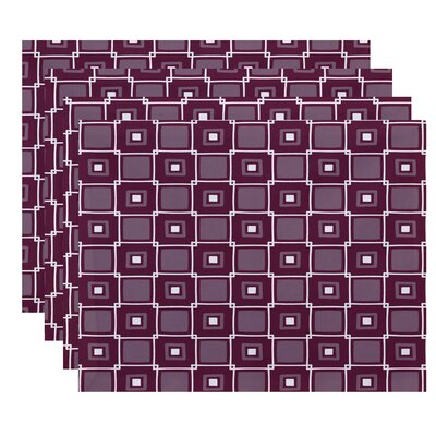 Endsley Square Pop Geometric Print Placemat Color: Purple