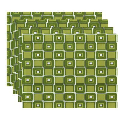 Endsley Square Pop Geometric Print Placemat Color: Green