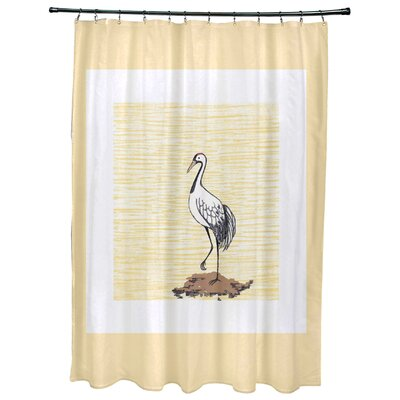Cedarville Sandbar Animal Print Shower Curtain Color: Yellow