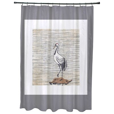 Cedarville Sandbar Animal Print Shower Curtain Color: Gray