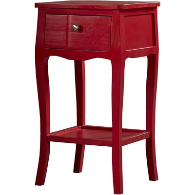 Waterfoot End Table Color: Hot Red