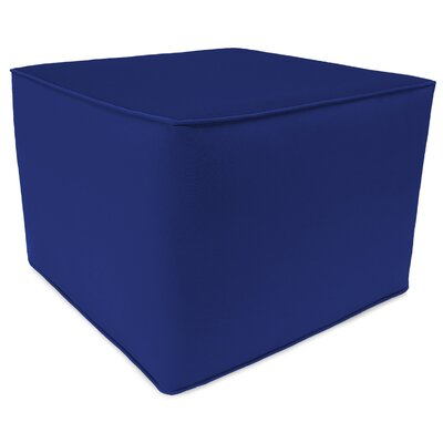 Essex Square Pouf Ottoman Upholstery: Cobalt Blue
