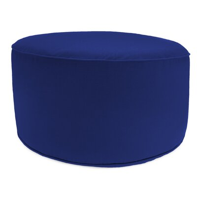Zoila Round Pouf Ottoman Upholstery: Cobalt Blue