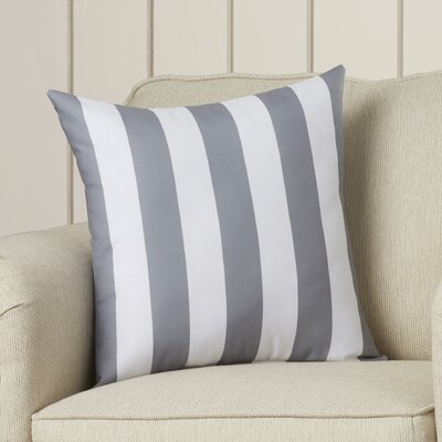 Cedarville Stripe Throw Pillow Size: 18 H x 18 W, Color: Classic Gray