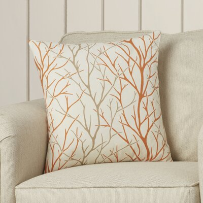 Eureka 100% Cotton Throw Pillow Color: Tangerine, Size: 18x18