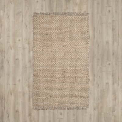 Boca Ciega Hand-Loomed Natural Area Rug Rug Size: Square 6