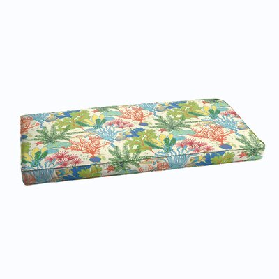 Evadne Corded Outdoor Bench Cushion Size: 48 x 19