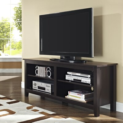 Sunbury 58 TV Stand with Optional Fireplace Color: Espresso, Fireplace Included: No
