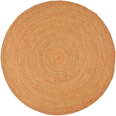 North Hand Woven Beige/Orange Area Rug Rug Size: Round 6
