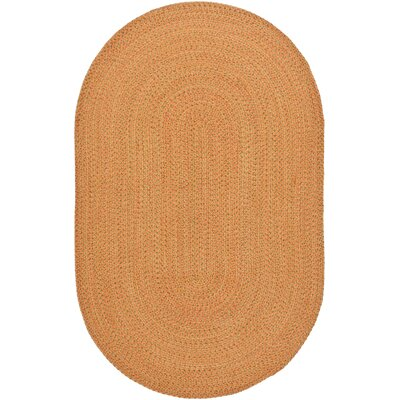 Hand Woven Beige/Orange Area Rug Rug Size: Oval 8 x 10