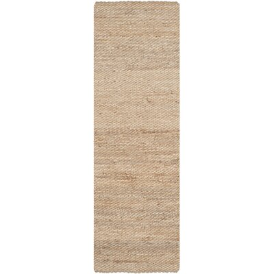 Worley Hand Woven Natural Area Rug Rug Size: Runner 26 x 16