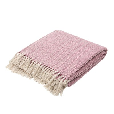 Panama City Beaches Cotton Throw Blanket Color: Sangria / Birch