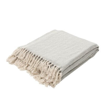 Panama City Beaches Cotton Throw Blanket Color: Mineral Blue / Birch
