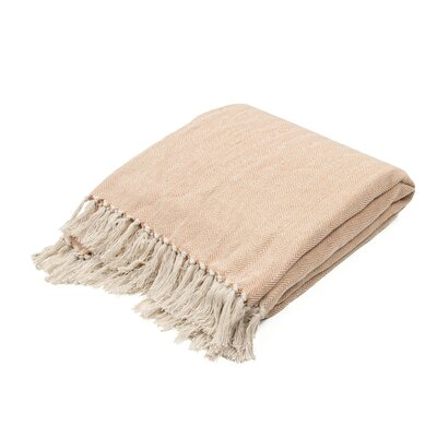 Panama City Beaches Cotton Throw Blanket Color: Yam / Birch