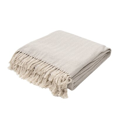 Panama City Beaches Cotton Throw Blanket Color: Neutral Gray / Birch