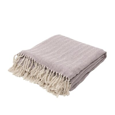 Panama City Beaches Cotton Throw Blanket Color: Plum Wine / Birch