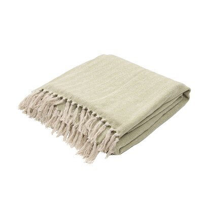 Panama City Beaches Cotton Throw Blanket Color: Iguana / Birch