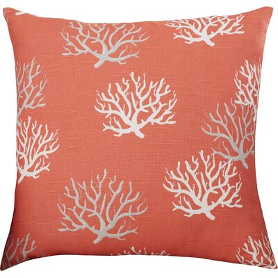 Tamarac 100% Cotton Throw Pillow Color: Salmon, Size: 18 H x 18 W