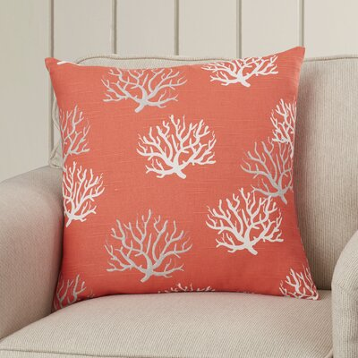 Tamarac 100% Cotton Throw Pillow Color: Salmon, Size: 20 H x 20 W