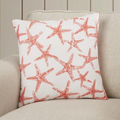 Nowayton Ilene 100% Cotton Throw Pillow Color: Salmon, Size: 18 H x 18 W