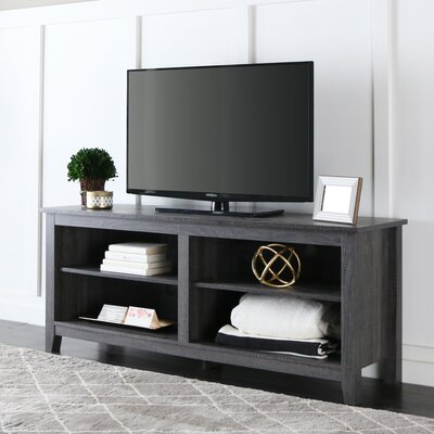 Sunbury 58 TV Stand with Optional Fireplace Color: Charcoal, Fireplace Included: No